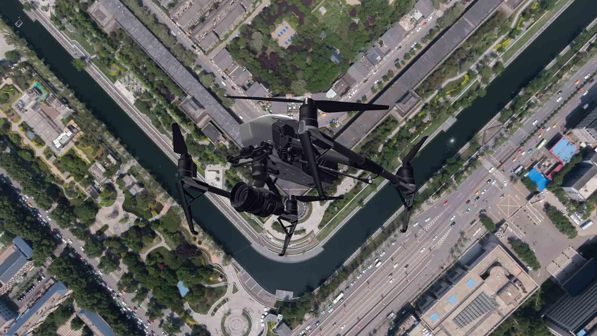 西安市城墙马拉松航空摄影虚拟仿真实验